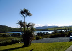 View from Hazelbrook Farmhouse accommodation, Cleggan, Clifden, West of Ireland